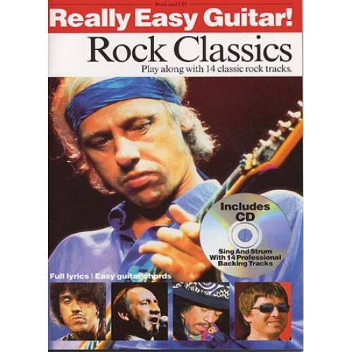 WISE PUBLICATIONS REALLY EASY GUITAR - ROCK CLASSICS + CD