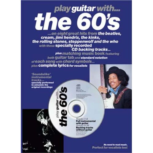 MUSIC SALES PLAY GUITAR WITH 60'S + CD - GUITAR TAB