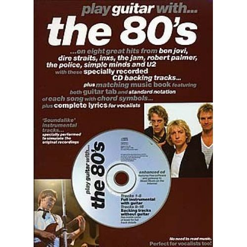 MUSIC SALES PLAY GUITAR WITH 80'S + CD - GUITAR TAB