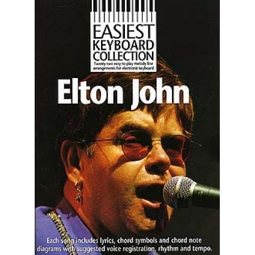 WISE PUBLICATIONS EASIEST KEYBOARD COLLECTION ELTON JOHN - MELODY LINE, LYRICS AND CHORDS