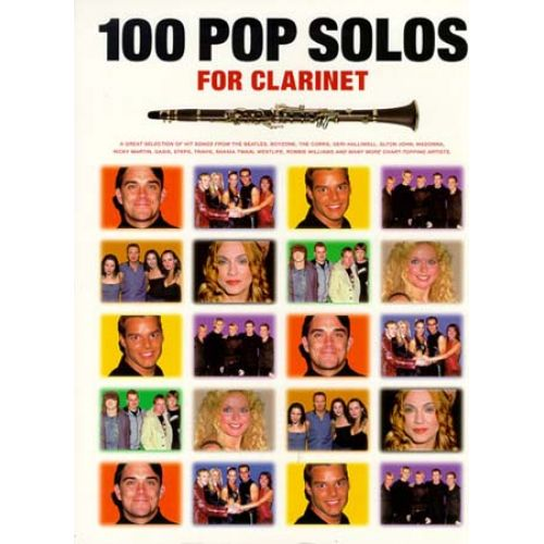 WISE PUBLICATIONS 100 POP SOLOS - CLARINET