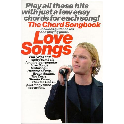 WISE PUBLICATIONS LOVE SONGS CHORD SONGBOOK - LYRICS AND CHORDS