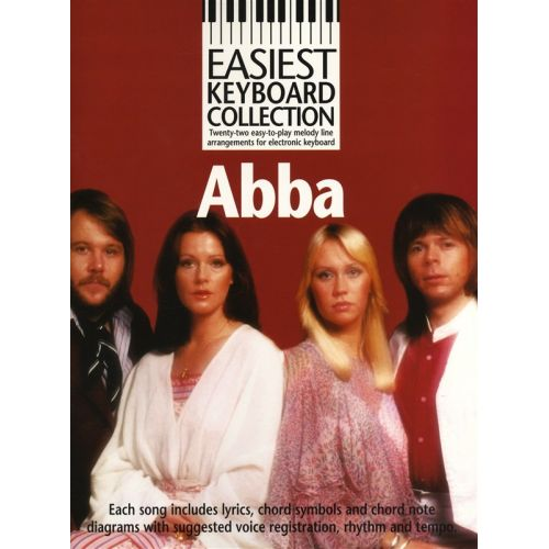 MUSIC SALES EASIEST KEYBOARD COLLECTION ABBA MELODY LYRICS CHORDS- MELODY LINE, LYRICS AND CHORDS