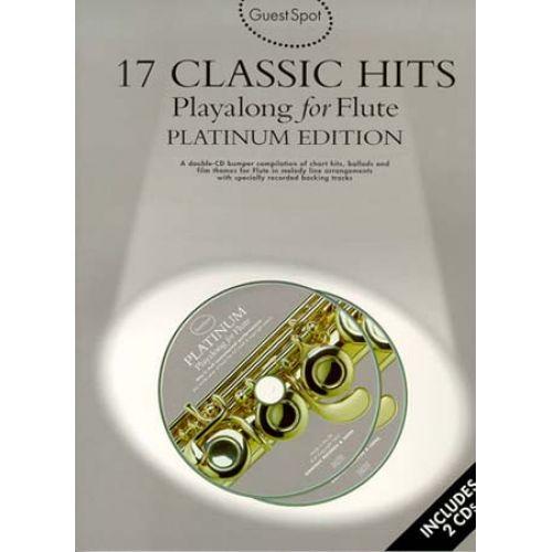WISE PUBLICATIONS GUEST SPOT PLATINUM - 17 CLASSIC HITS + 2CD - FLUTE