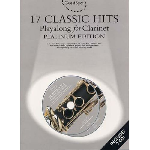 WISE PUBLICATIONS GUEST SPOT 17 CLASSIC HITS PLATINIUM CLARINET CD