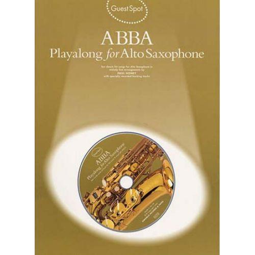 MUSIC SALES GUEST SPOT - ABBA + CD - SAXOPHONE ALTO