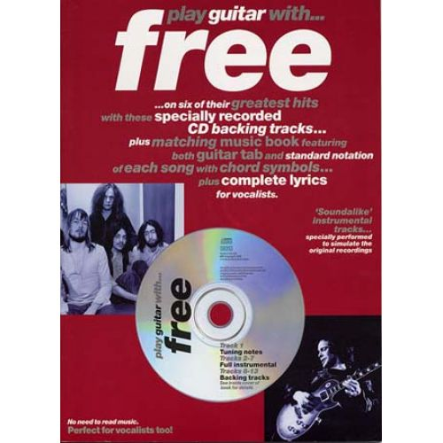 MUSIC SALES FREE PLAY GUITAR WITH + CD - GUITAR TAB