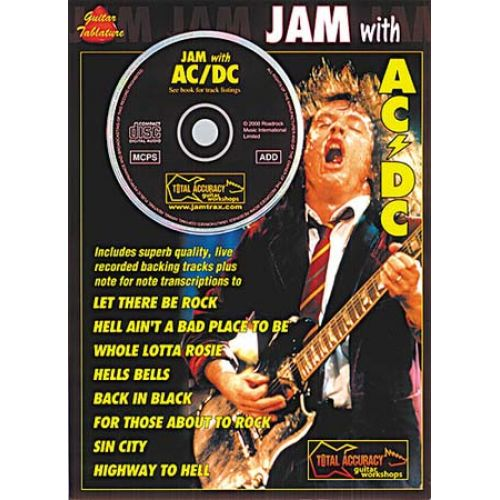 MUSIC SALES AC/DC - JAM WITH + CD - GUITAR TAB