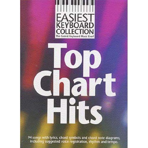 WISE PUBLICATIONS EASIEST KEYBOARD COLLECTION - TOP CHART HITS - KEYBOARD