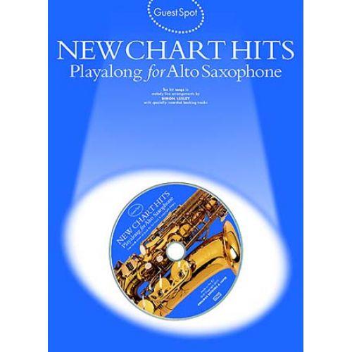 WISE PUBLICATIONS GUEST SPOT AVEC CD : NEW CHART HITS POUR SAXOPHONE