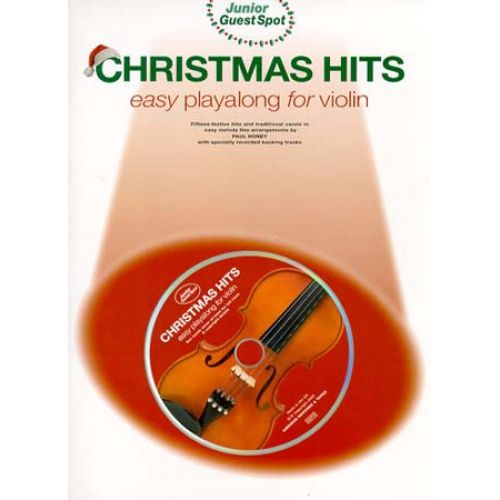 WISE PUBLICATIONS GUEST SPOT JUNIOR - CHRISTMAS HITS EASY PLAYALONG + CD - VIOLON