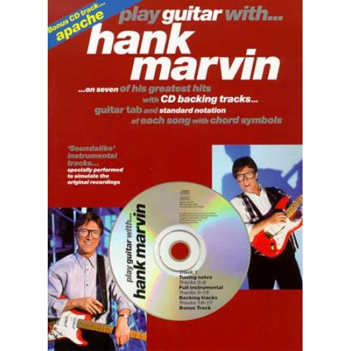 MUSIC SALES MARVIN HANK - PLAY GUITAR WITH + CD - GUITAR TAB