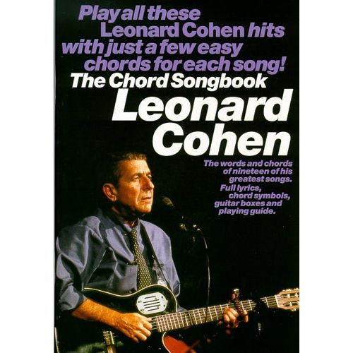 WISE PUBLICATIONS COHEN, L CHORD SONGBOOK - LYRICS AND CHORDS