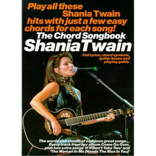 Wise Publications Shania Twain Chord Songbook Lyrics And Chords