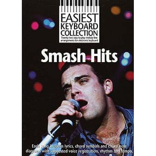 WISE PUBLICATIONS SMASH HITS - TWENTY-TWO EASY-TO-PLAY MELODY LINE ARRANGEMENTS - MELODY LINE, LYRICS AND CHORDS