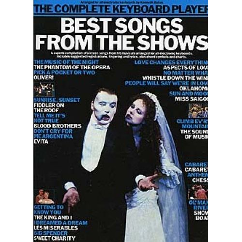WISE PUBLICATIONS THE COMPLETE KEYBOARD PLAYER BEST SONGS FROM THE SHOWS KBD - KEYBOARD
