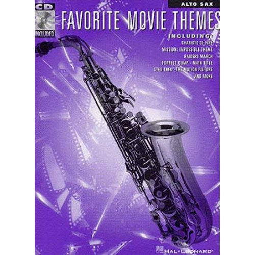 MUSIC SALES FAVORITE MOVIE THEMES FOR + CD - ALTO SAXOPHONE