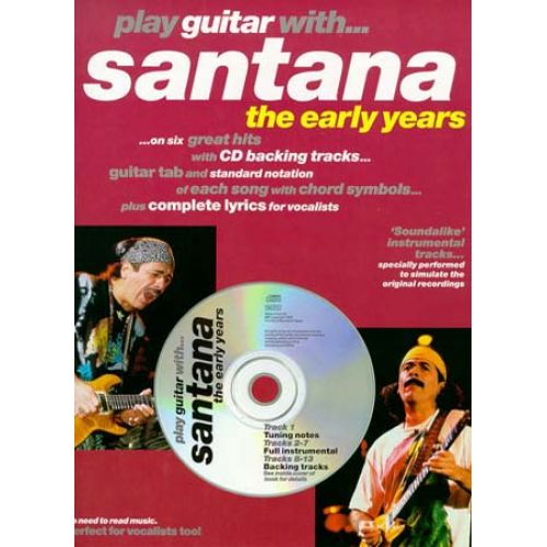 WISE PUBLICATIONS PLAY GUITAR WITH... SANTANA (THE EARLY YEARS) + CD