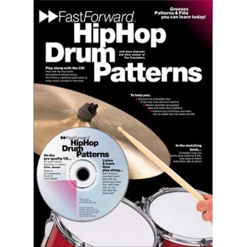 MUSIC SALES HIP HOP DRUM PATTERNS + CD - BATTERIE