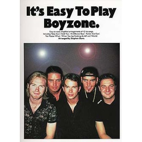 WISE PUBLICATIONS IT'S EASY TO PLAY BOYZONE - PVG