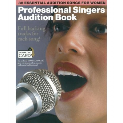 MUSIC SALES PROFESSIONAL SINGERS AUDITION BOOK + MP3 - PVG