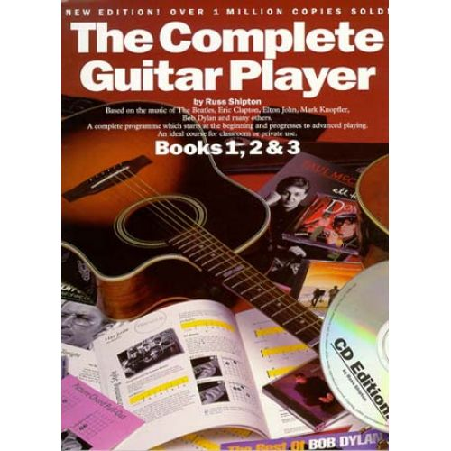WISE PUBLICATIONS SHIPTON RUSS - COMPLETE GUITAR PLAYER BOOKS - BOOK N°1,2,3 + CD