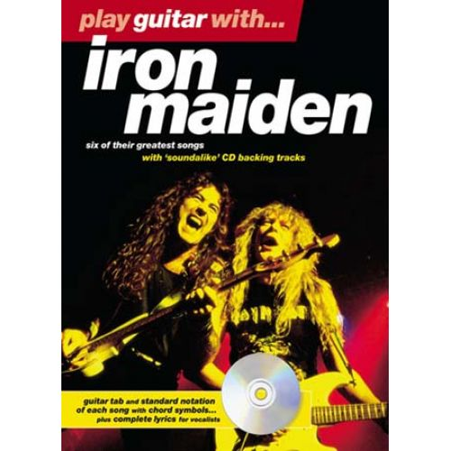 WISE PUBLICATIONS IRON MAIDEN - PLAY GUITAR WITH + CD - GUITAR TAB