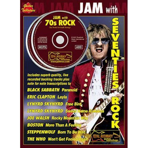 MUSIC SALES JAM WITH SEVENTIES ROCK + 2 CD - GUITAR TAB