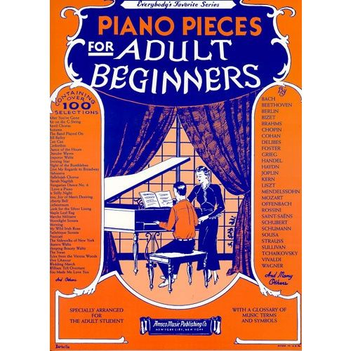 WISE PUBLICATIONS PIANO PIECES FOR ADULT BEGINNERS - PIANO SOLO
