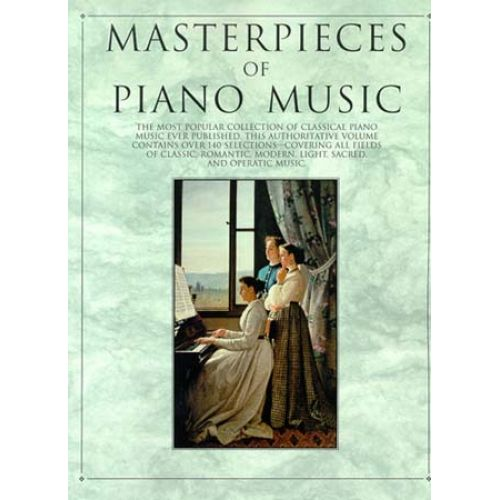MUSIC SALES WEIR ALBERT - MASTERPIECES OF PIANO MUSIC - PIANO SOLO