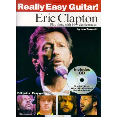 WISE PUBLICATIONS CLAPTON ERIC - REALLY EASY GUITAR + CD - GUITAR TAB