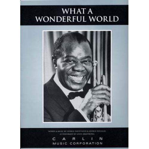 MUSIC SALES ARMSTRONG LOUIS - FORMAT WHAT A WONDERFUL WORLD - PVG