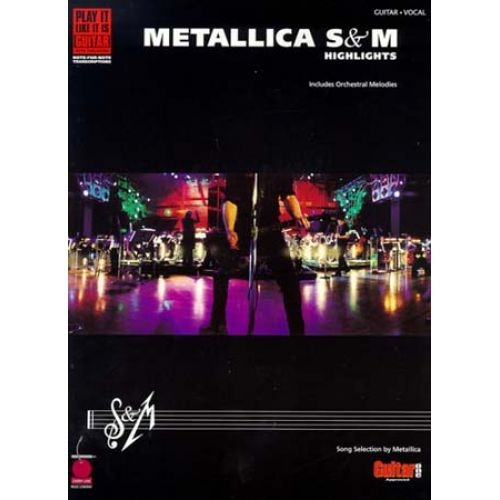 WISE PUBLICATIONS METALLICA SANDM HIGHLIGHTS GUITAR WITH TABLATURE/VOCAL - GUITAR TAB