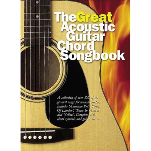 MUSIC SALES GREAT ACOUSTIC GUITAR CHORD SONGBOOK