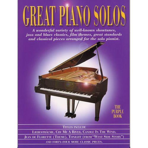 MUSIC SALES GREAT PIANO SOLOS PURPLE- PIANO SOLO