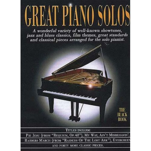 MUSIC SALES GREAT - PIANO SOLOS BLACK REVISED