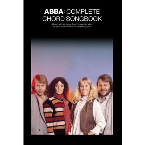 WISE PUBLICATIONS OMNIBUS PRESS - ABBA - COMPLETE CHORD SONGBOOK - LYRICS AND CHORDS