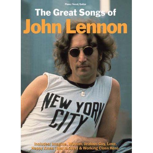 MUSIC SALES LENNON JOHN - GREAT SONGS - PVG