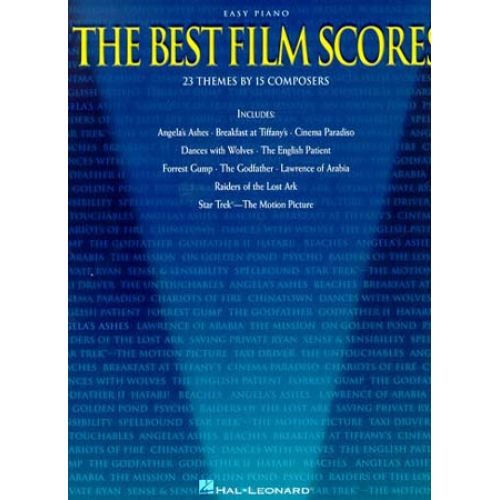 MUSIC SALES THE BEST FILM SCORES FOR EASY - PIANO SOLO