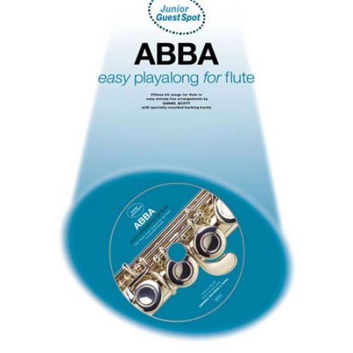WISE PUBLICATIONS GUEST SPOT JUNIOR - ABBA EASY PLAYALONG - FLUTE
