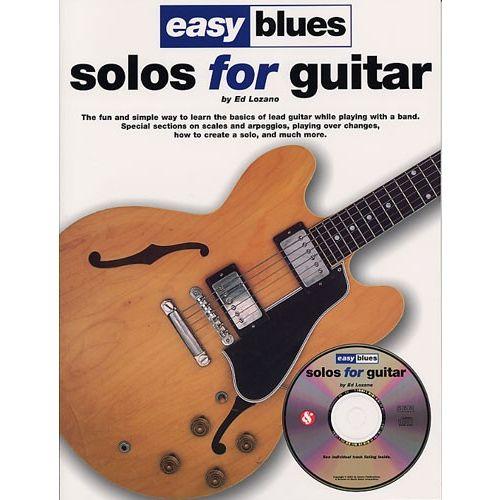 MUSIC SALES LOZANO ED - EASY BLUES SOLOS FOR GUITAR - GUITAR TAB