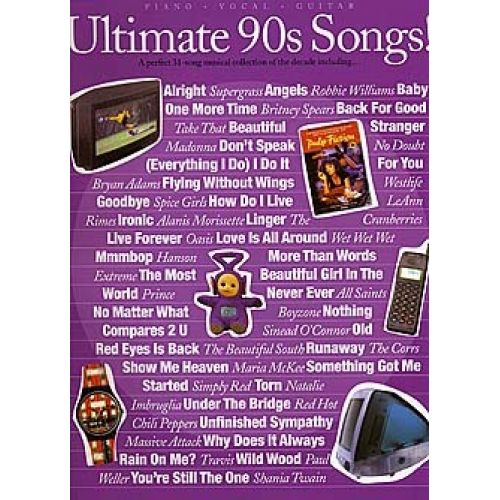 WISE PUBLICATIONS ULTIMATE 90S SONGS! - PVG