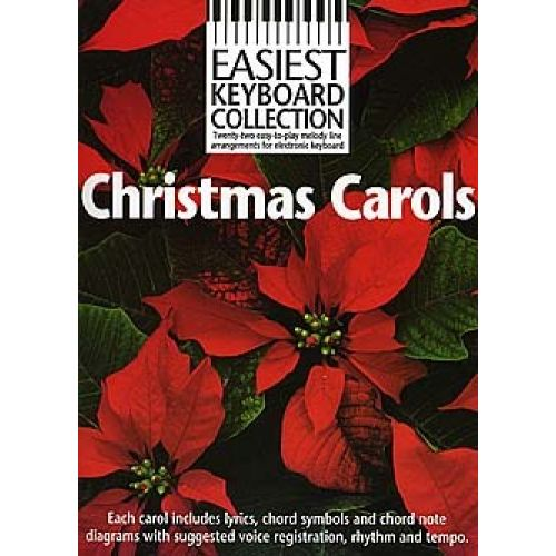 WISE PUBLICATIONS EASIEST KEYBOARD COLLECTION - CHRISTMAS CAROLS - MELODY LINE, LYRICS AND CHORDS