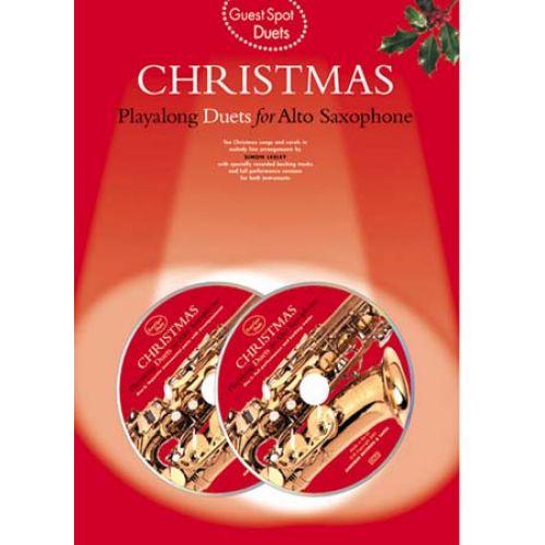 MUSIC SALES GUEST SPOT - DUETS CHRISTMAS - SAXOPHONE ALTO + 2 CD