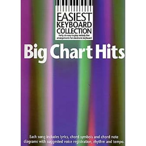 WISE PUBLICATIONS EASIEST KEYBOARD COLLECTION - BIG CHART HITS - MELODY LINE, LYRICS AND CHORDS