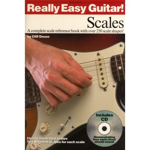 WISE PUBLICATIONS DOUSE CLIFF - REALLY EASY GUITAR SCALES - SCALES - GUITAR
