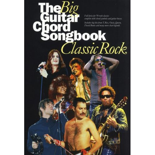 WISE PUBLICATIONS THE BIG GUITAR CHORD SONGBOOK - CLASSIC ROCK - LYRICS AND CHORDS