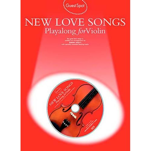 WISE PUBLICATIONS GUEST SPOT - NEW LOVE SONGS PLAYALONG FOR + CD - VIOLON