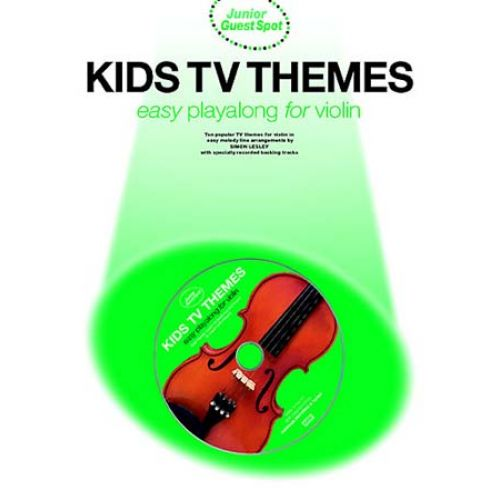 WISE PUBLICATIONS GUEST SPOT JUNIOR - KIDS TV THEMES + CD - VIOLON