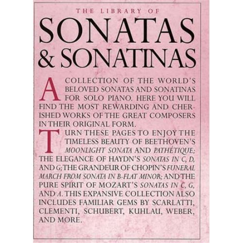 WISE PUBLICATIONS THE LIBRARY OF SONATAS AND SONATINAS - PIANO SOLO